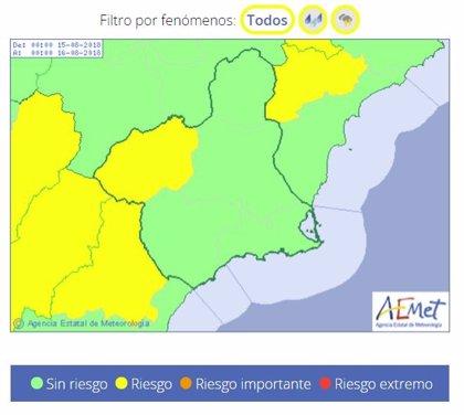 El Noroeste, en aviso amarillo este miércoles por lluvias y tormentas
