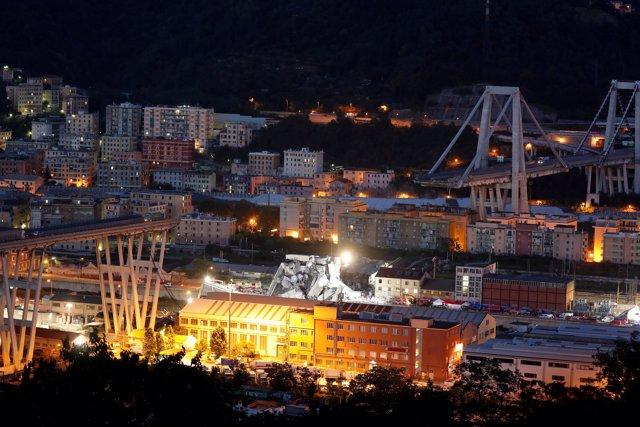 Puente Morandi derrumbado en Génova