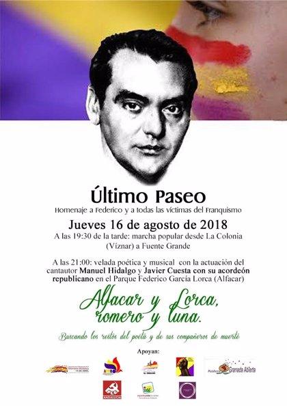 """Acto memorialista en Granada en recuerdo del """"último paseo"""" de Lorca"""