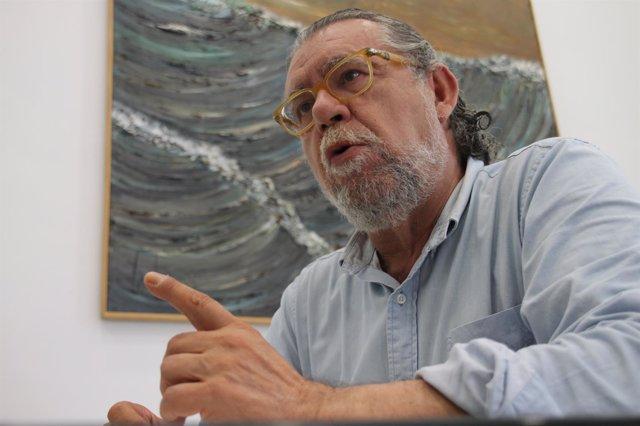 El concejal Ramón Vilar durante la entrevista con Europa Press