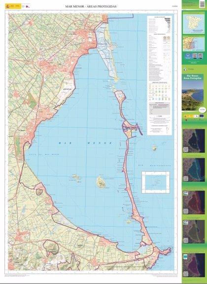 Medio Ambiente elabora un mapa topográfico en el que se destacan los espacios protegidos del Mar Menor