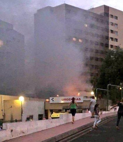 Pasa a disposición judicial la mujer acusada de provocar el incendio del Hospital de La Candelaria