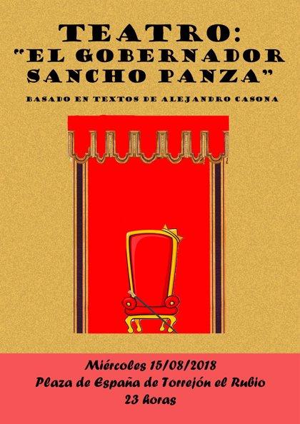 Vecinos de Torrejón el Rubio ponen en escena este miércoles la obra de teatro 'El gobernador Sancho Panza'