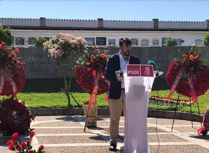 """Lemus (PSOE) considera necesario hacer un """"gesto oficial"""" en recuerdo de las víctimas de la represión franquista"""
