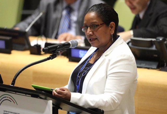 La viceministra de Exteriores de El Salvador, Liduvina Magarín