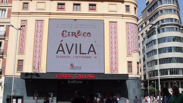Publicidad de Cir&Co en los Cines Callao de Madrid