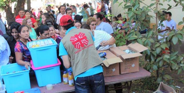 Cáritas ayudando a la población de Nicaragüa