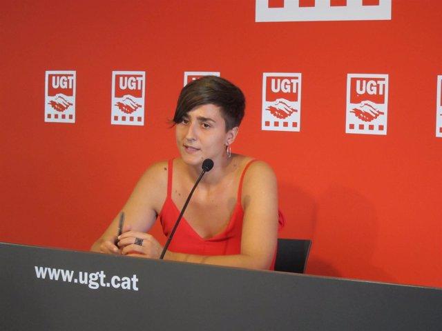Elena Ferrero, portavoz de Avalot-Joves d'UGT de Catalunya