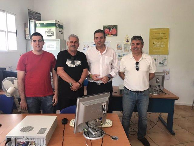 Visita al programa Aldeas Digitales en Peñolite.
