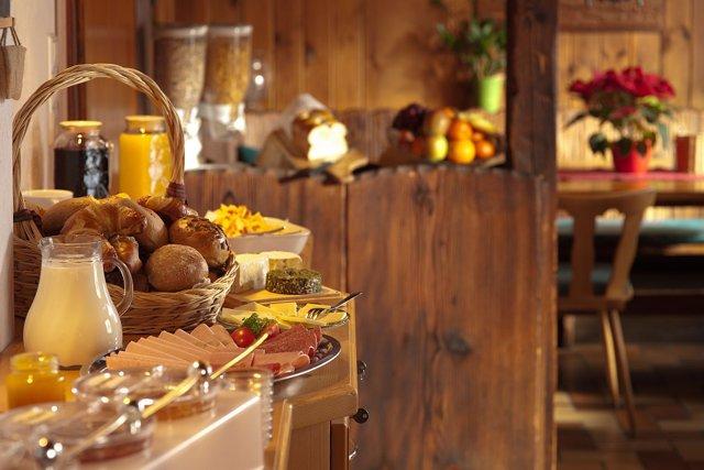 Buffet de comida, desayuno