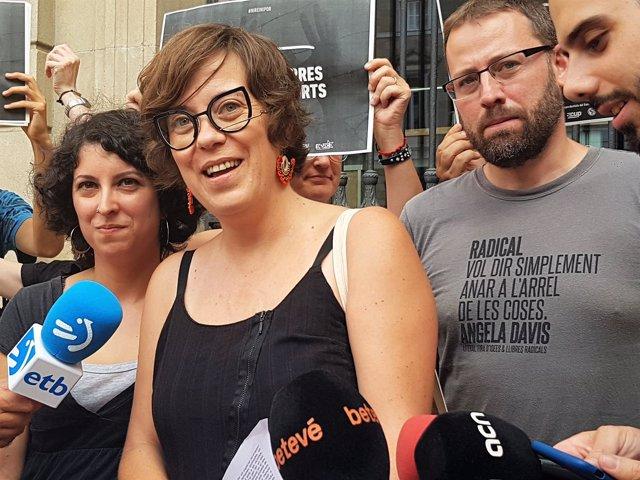Lorena Merlus (izquierda independentista) Eulàlia Reguant, Vidal Aragonès (CUP)