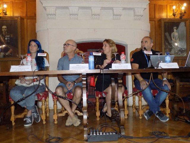 Representantes de Proactiva Open Arms y Proem-AID en la UIMP