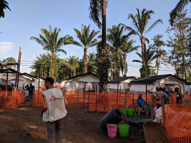 Centro de tratamiento contra el ébola de MSF en Mangina
