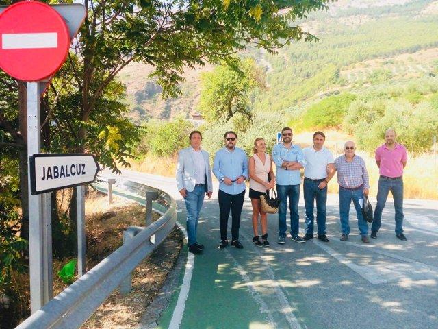Viisita a las obras de seguridad vial en Jabalcuz.