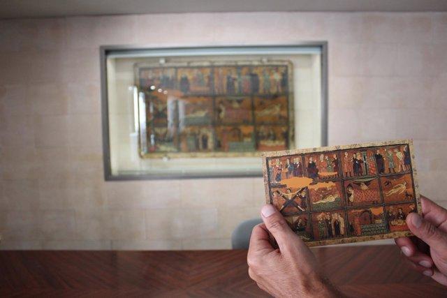 Fotonoticia | El Frontal De San Vicente Mártir Expuesto En La Diputación De Hues