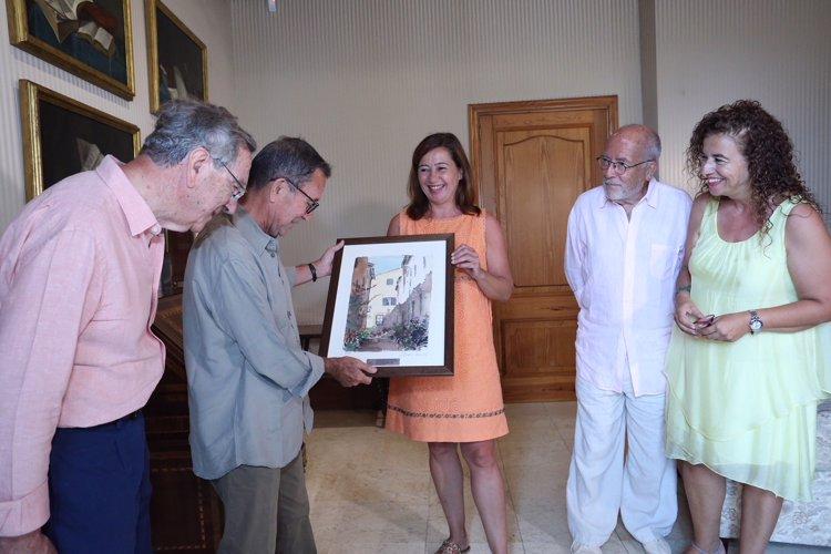 Armengol recibe al arquitecto ibicenco Elías Torres, Premio Nacional de Arquitectura 2016