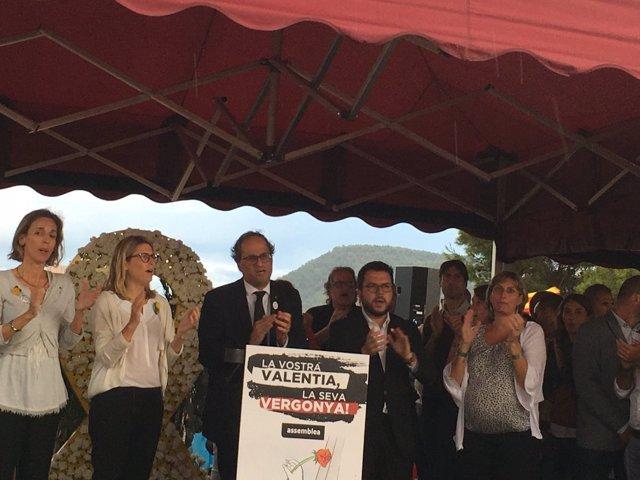 Torra llama a 'atacar' a un 'Estado español injusto' y a hacer realidad la república catalana