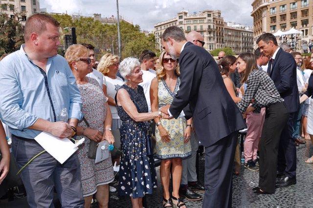 Actos del Primer Aniversario de los atentados en Barcelona y Cambrils