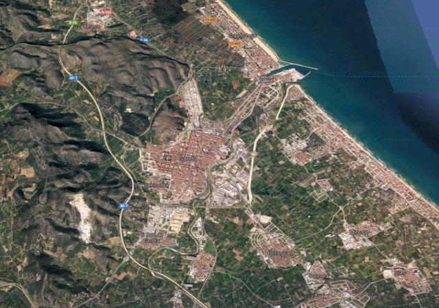 Localización de Gandia (Valencia)