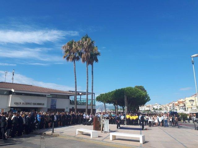 Homenaje a las víctimas del 17A en Cambrils (Tarragona)
