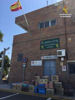 Más de 1.830 kilos de hachís intervenidos en La Línea