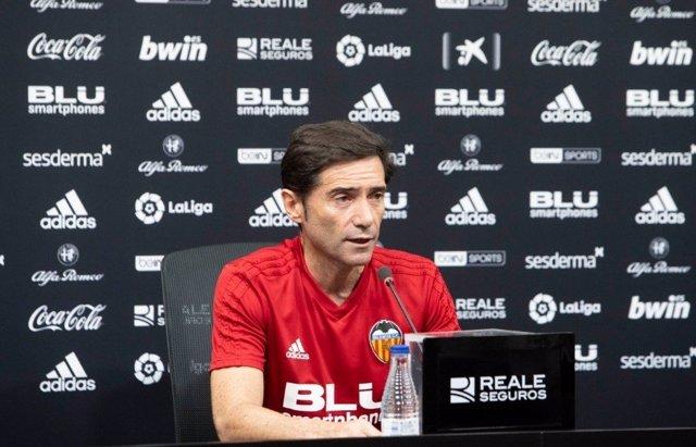 Marcelino García Toral, durante una rueda de prensa