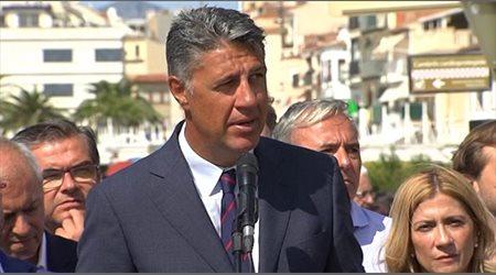 Albiol critica la actitud de Torra durante el homenaje en Cambrils