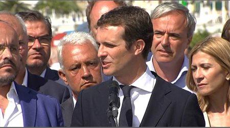 """Casado exige a la Generalitat que """"deje de amenazar a las instituciones"""""""