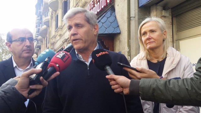 Alberto Fernández, Javier Mulleras y Àngels Esteller