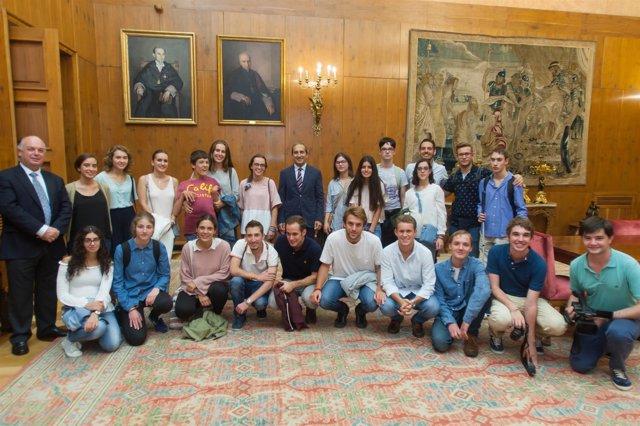 Alumnos que participaron en la anterior edición del programa Campus Inclusivos.