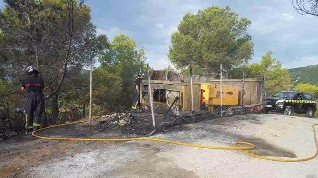 Incendio de un generador eléctrico de Ibiza