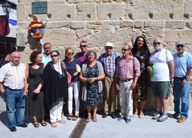 Acto celebrado en Marín en homenaje a Carmen Pesqueira 'A Capirota'