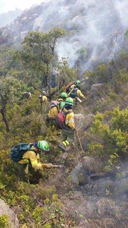 Imagen del incendio de Tarifa