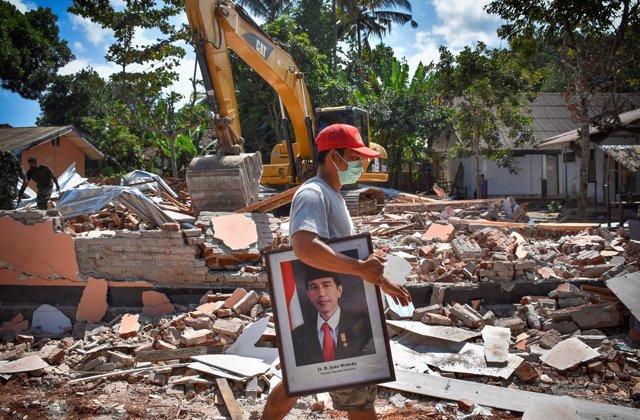 Daños provocados por el terremoto en Lombok