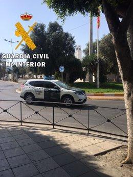 Vehículo de la Guardia Civil de Níjar
