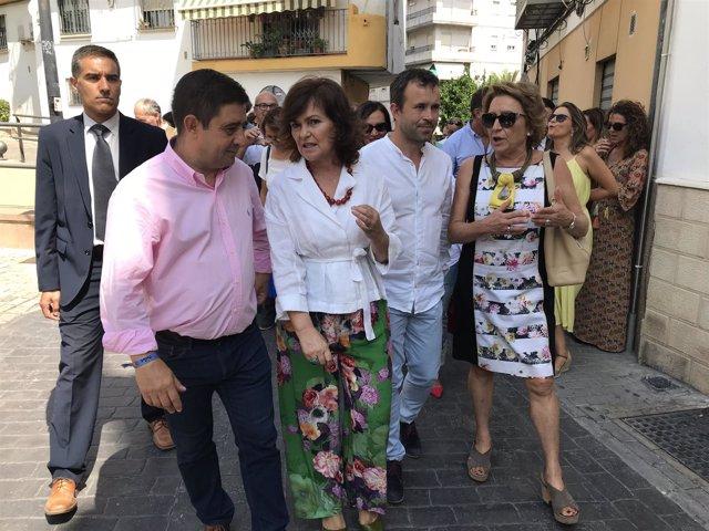 Carmen Calvo, durante su visita a la Judería