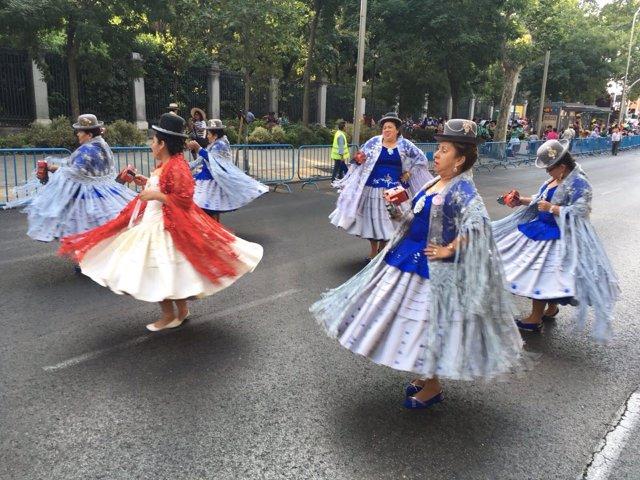Los bolivianos celebran la fiesta de la Virgen de  Urkupiña