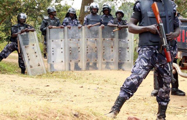 Policía ugandesa