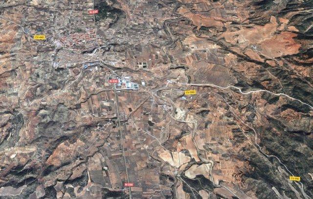 Localización de Ayora (Valencia)