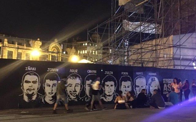 El PP vasco exige a Aburto que retire una pancarta en solidaridad con los condenados por la agresión de Alsasua