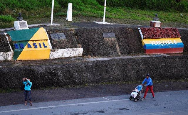 Frontera entre Brasil y Venezuela en Roraima