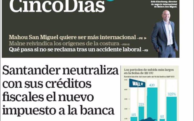 Las portadas de los periódicos económicos de hoy, lunes 20 de agosto