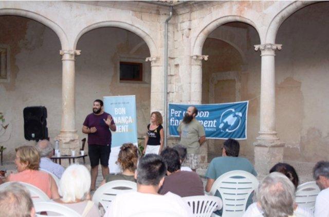 Evento 'Per un bon finançament' en Sineu