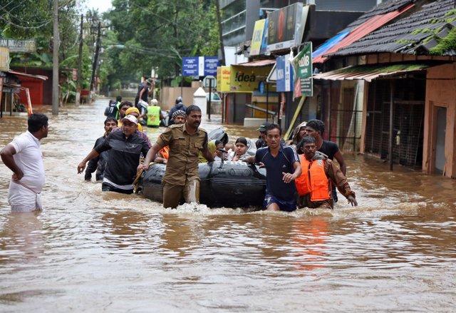 Inundaciones en el estado indio de Kerala