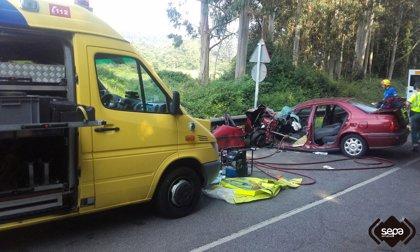 Un hombre resulta herido en un accidente de tráfico en Soto del Barco