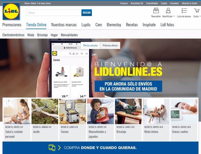 9eef7f209f Lidl entra en el mercado  online  con una tienda piloto en Madrid para  vender sus marcas propias de moda