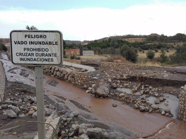 Efectos de las lluvias de la pasada semana en Guadix (Granada)