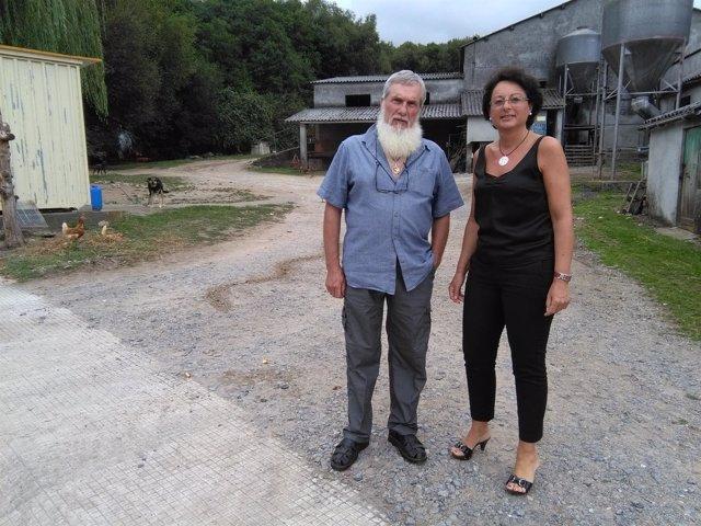 El diputado Xosé Luis Rivas, 'Mini', y la teniente de alcalde de Pastoriza