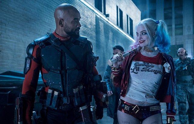 Will Smith y Margot Robbie en Escuadrón Suicida