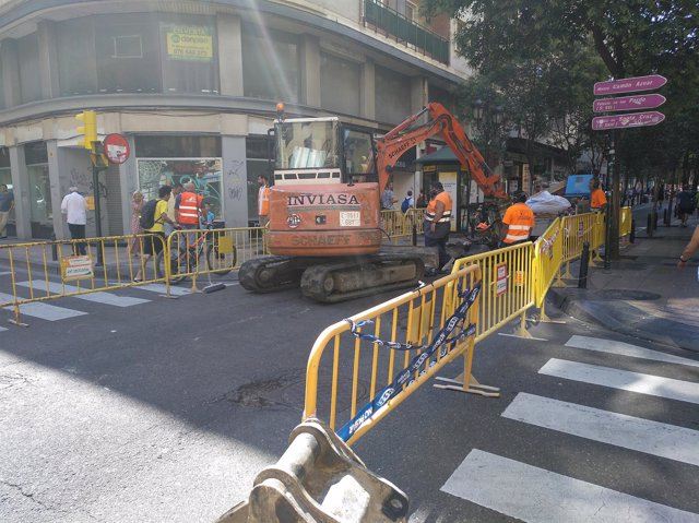 Obras en la calle don Jaime I.